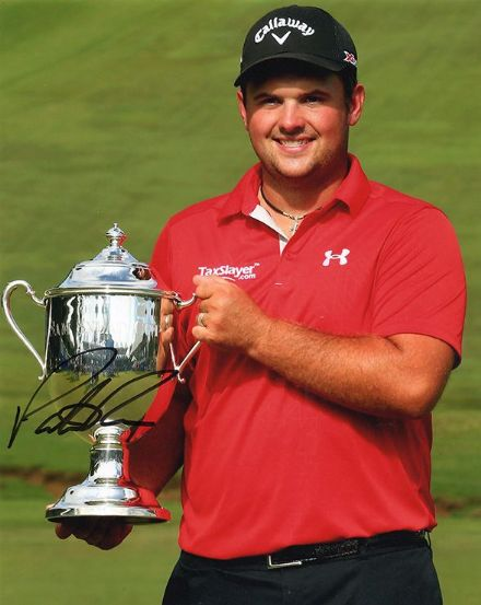 Patrick Reed, signed 10x8 inch photo.